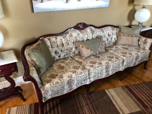 Antique replica couch and love seat