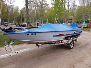 Princecraft 16.2 Pro Series Springbok with trailer  trolling mt
