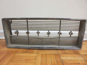Vintage Mercury Meteor Car Grille with Letters Badge - Repurpose