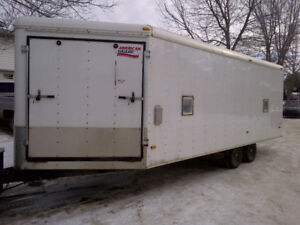 26 foot V-Nose enclosed snowmobile trailer