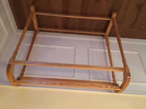 Solid oak quilt stand