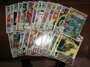 Vintage 1980's Marvel G.I. Joe Comic Book Collection Lot