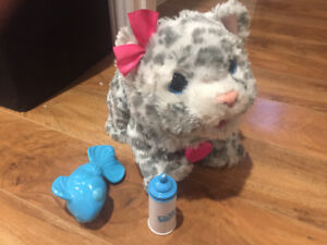 Baby Snow Leopard Interactive Plush toy