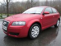 05/55 AUDI A3 1.6 SPECIAL EDITION 3DR HATCH IN MET RED WITH SERVICE HISTORY