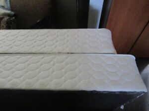King size bed frame, foundation, mattress