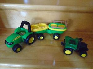 jouet 2 tracteurs John Deere
