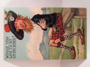 Scottish Men in Kilts Themed Vintage Postcards ( 10 )