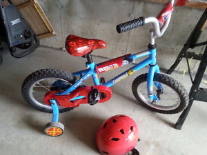 Thomas and friends 12' bike with training wheels -like new $60