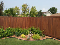 PVC  full Privacy maintenance free fence