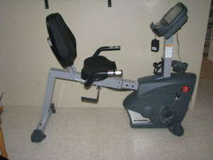 Recumbent exercise bicycle
