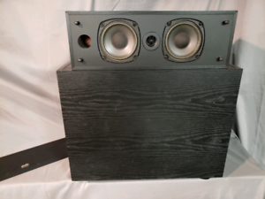 PSB subwoofer and center channel