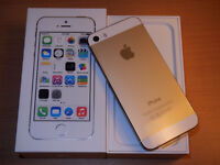 GOLD APPLE iPHONE 5S WITH CHARGER AND ORIGINAL BOX - TELUS