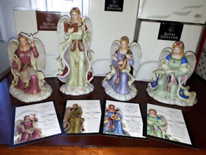 Royal Doulton 2005 Hand Painted ANGELS Series  of 4 Signed