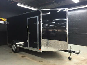 6' x 12' V-Nose Cargo Trailer • Made in Canada • 3 Year Warranty