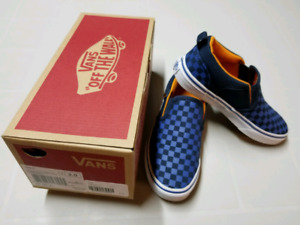 Vans Asher Checkers Youth Boys Size 2 shoes