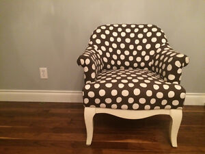 Polka Dotted Chair Pottery Barn