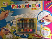 Poster puzzle paint