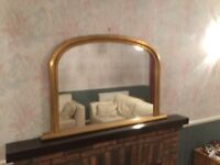 Large Gold framed mirror in great condiition
