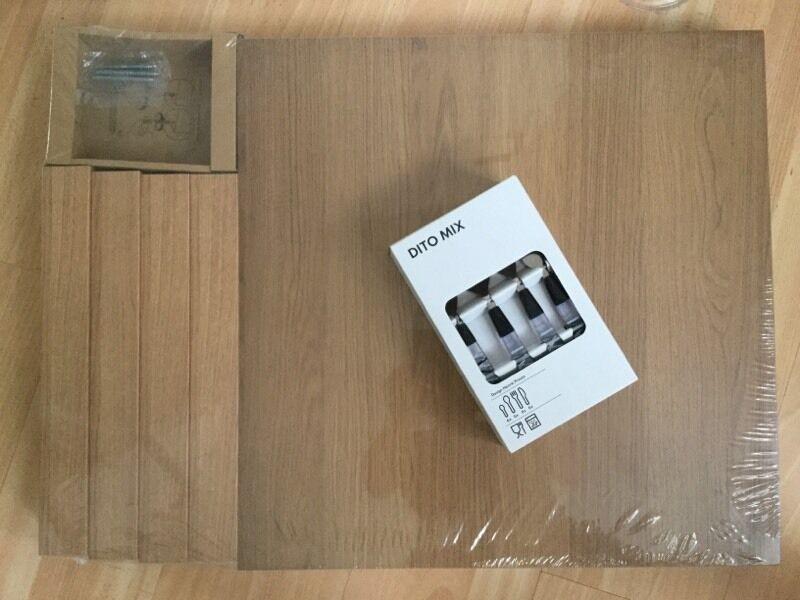 BNWT Ikea lack table + dito cutlery set