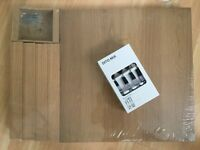 BNWT Ikea lack table + ditto cutlery set
