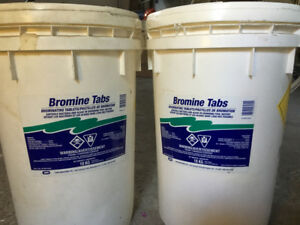 SALE - 2 BROMINE TABLETS containers, 30~32kg - POOL CHEMICALS
