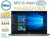 Dell XPS 15 9560 - MAXED OUT - Latest 2017 Model - Intel Core i7, 4K Touchscreen, 1TB SSD, 32GB RAM