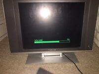 "Flat screen 15"" colour TV."