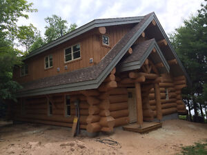 Handcrafted log home shell-diamond cut notches_ Cornwall Ontario image 10