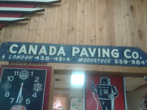 Canada Paving Sign Wood