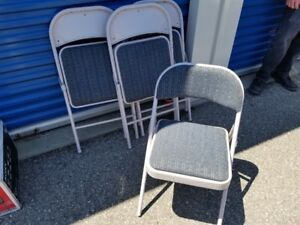 Padded Folding Chairs x4