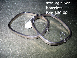SALE $20. sterling square bracelet pair