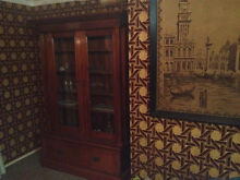 DISPLAY CABINET  ***  ONE OF A KIND ***  Antique DECEASED ESTATE Mansfield Brisbane South East Preview