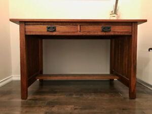 Natural Solid Wood Desk