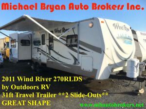 2011 WIND RIVER 270RLDS TRAVEL TRAILER - 31FT **2 SLIDE-OUTS**