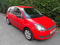 Ford Fiesta 1.25, 2007, Red. Style, 5 Door, Low Miles,
