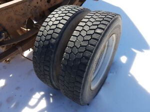Set of six  Ford 19.5 dually rims and tires