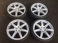 """19"""" Genuine Staggered Mercedes Benz AMG C Class S Class Alloys 5x112"""