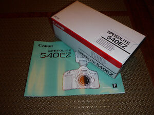 Canon flash 540EZ--box and manual only--
