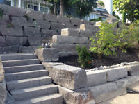 Big or Small Armour Stone Retaining Walls