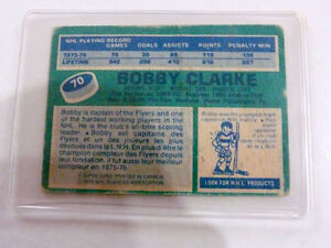 Bobby Clarke O-Pee Chee 1976 Center Flyers 1st Team All Star Car Kitchener / Waterloo Kitchener Area image 2