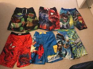 Boys size 10 bathing suits