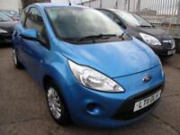 2011 11 Ford Ka 1.2 ( s/s ) Edge 3 Door 62,077miles 1FK Met Vision Blue £30 Tax