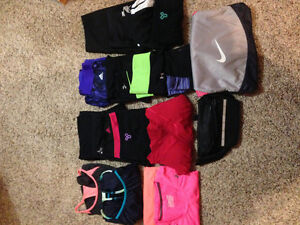 TNA, Under Armour and Nike Ladies exercise clothes
