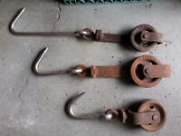 ORIGINAL CALGARY BURNS MEAT PACKING PLANT MEAT HOOKS.