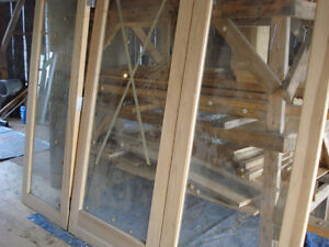 Solid Maple Doors with Beveled Glass