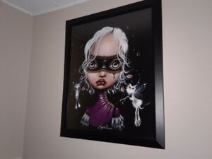 Large framed Angelina Wrona print