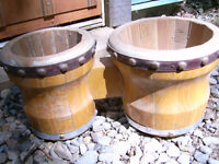 Vintage Pair of Wooden Small Bongos W/ Wooden Casing