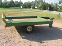 GOOD SMALL UTILITY TRAILER 4 WIDE X OVER 6 FEET LONG.