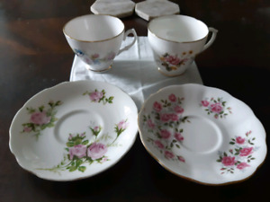Fine BONE China  Tea Cups and Saucers Made in England
