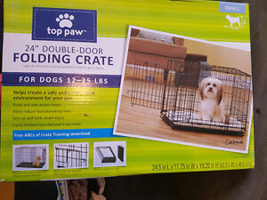"24"" top paw dog cage new in box"